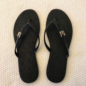 MICHAEL Michael Kors flip flops black 8 NEW